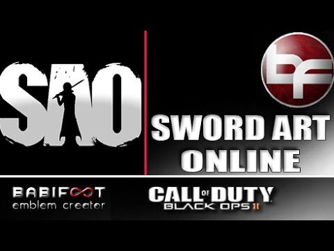 COD Black Ops 2 Emblem Tutorial  - Sword Art Online