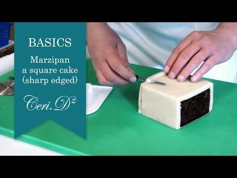 Basics #1 | Marzipan a square cake (sharp edged)