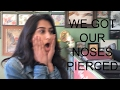 We got our noses pierced! (Vlog #8)