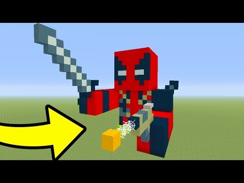 Minecraft Tutorial: How To Make A Deadpool Statue house