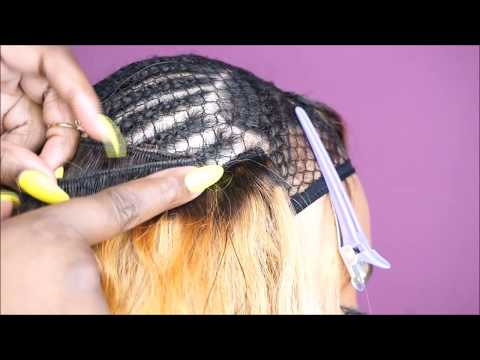 Sew-In Weave with a Leave Out