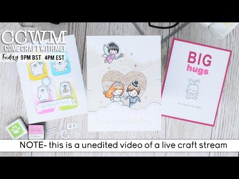 CCWM- Lawn Fawn Wedding Card & MFT Bitty Bears & Mama Elephant bunny
