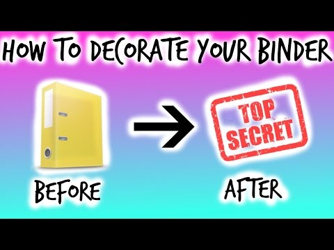 BACK TO SCHOOL DIY BINDER // How To // Using Duct Tape To Decorate Old Binder