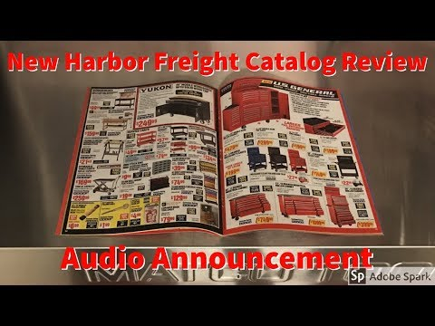 Harbor Freight May Catalog and Audio Announcement