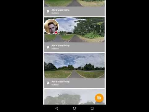Street view linking picture together