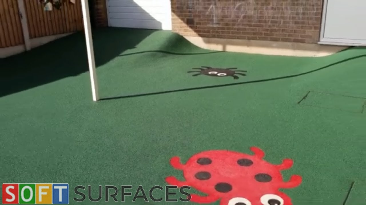 Small Nursery EPDM Rubber Surfacing in Wolverhampton, West Midlands | Wetpour Play Area