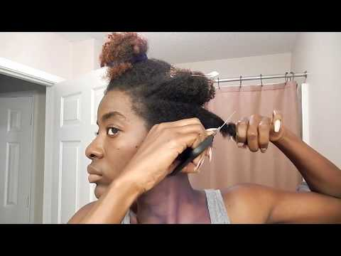 DIY Tapered Cut  on 4C Natural Hair