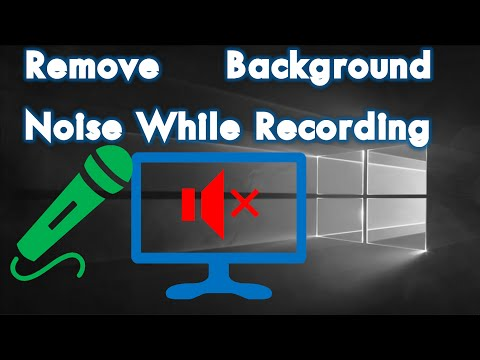Remove Background Noise While Recording