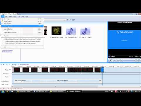 How to make a music video with lyrics and how to upload it on Youtube in HD (HD)