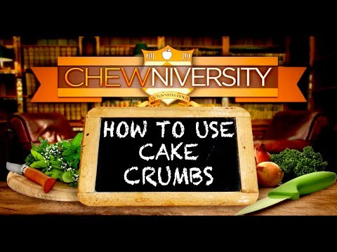 How to Use Leftover Cake Crumbs!