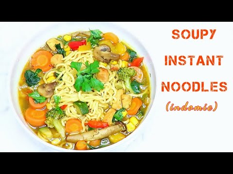 Indomie noodles recipe | Very easy and soupy instant noodles | Clean diet!