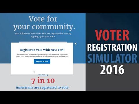 VOTER REGISTRATION SIMULATOR 2016   How to register to vote in New York