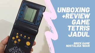 Unboxing + Review Game Tetris Jadul (Gimbot BrickGame) - Nostalgia Permainan Gamewatch Generasi 90an