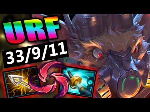 URF 2018 | NEW ITEMS STORMRAZOR, INFINITY EDGE, HAIL OF BLADES TWITCH BROKEN! - League of Legends