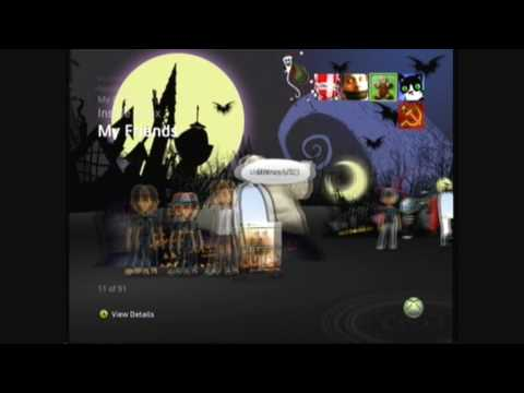 A Nightmare Before Christmas Xbox 360 Premium Theme Preview
