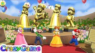 Mario Party 9 Step It Up - Peach vs Luigi vs Daisy vs Mario Co-op 4 Player Gameplay (Everyone Win)