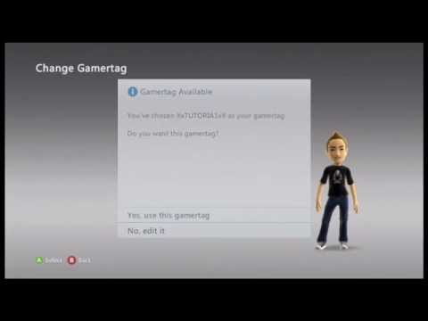 How to change your gamertag for FREE on xbox 360