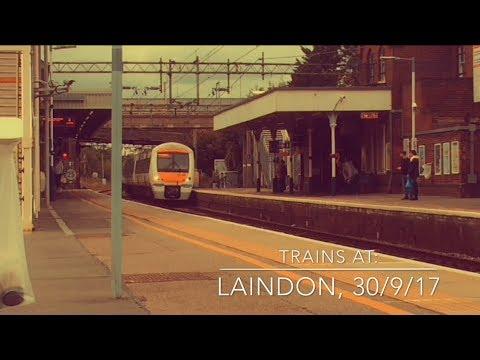 Trains at: Laindon, LTSML, 30/9/17