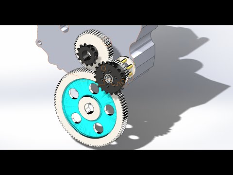 Forward Reverse Gearbox Animation