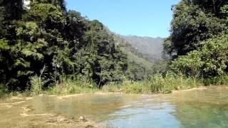 Swimming in Semuc Champey
