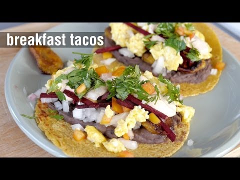 Breakfast Tacos - Homemade Corn Tortillas | Cooking