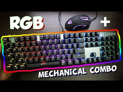 Best Gaming Mechanical Keyboard + MOUSE (Cool RGB LED Effects ) - Motospeed CK888
