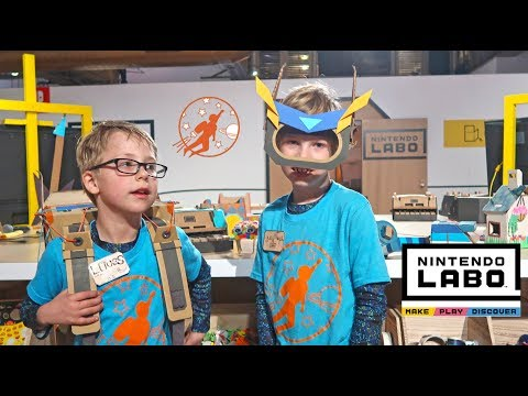 New Sky Kids Playing with Nintendo Labo in New York City