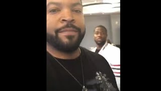 Ice Cube at Twitter with Kevin Hart