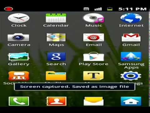 How To Take A Screenshot With Samsung Galaxy Ace Plus