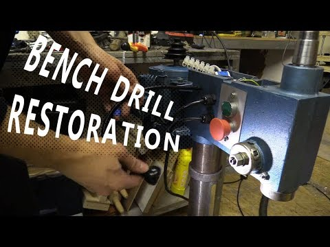 The Bench Drill I Restored: Rebuild, Clean, New Buttons, LED Light