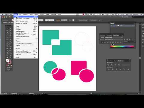 The Shape Builder and Pathfinder in Illustrator CS6