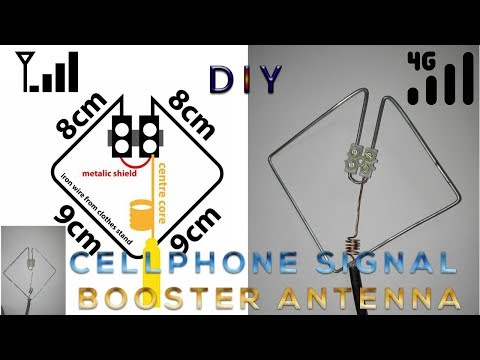 DIY 2G 3G 4G cellphone signal booster antenna
