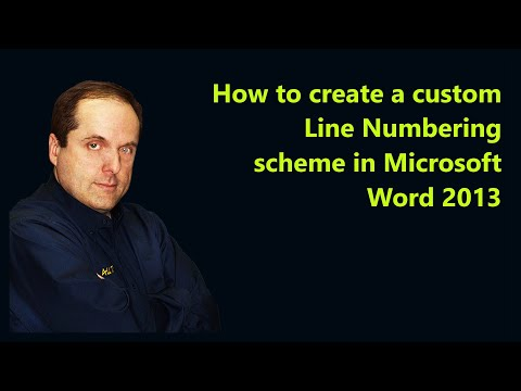 How to create a custom Line Numbering scheme in Microsoft Word 2013