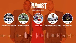 First Things First Audio Podcast (9.30.19)Cris Carter, Nick Wright, Jenna Wolfe | FIRST THINGS FIRST