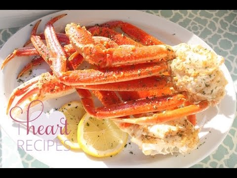 How to cook Snow Crab Leg in the oven - Easy Seafood Recipe - I Heart Recipes