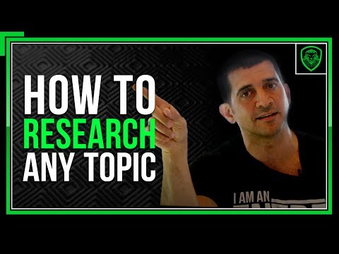 How To Research Any Topic