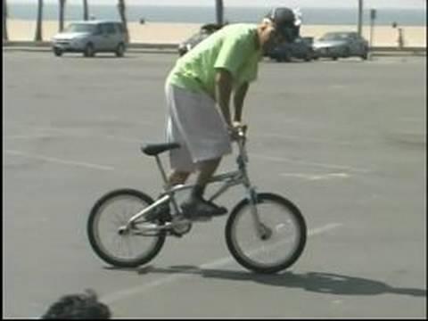 BMX Tricks & Safety : How to Pick up the Back Wheel on a BMX Bike