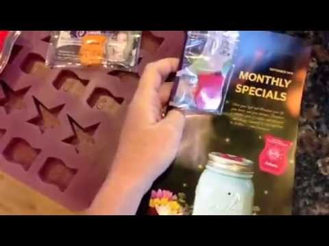 How to make Scentsy Scent of the Month samples. http://wicklesscandleshop.com