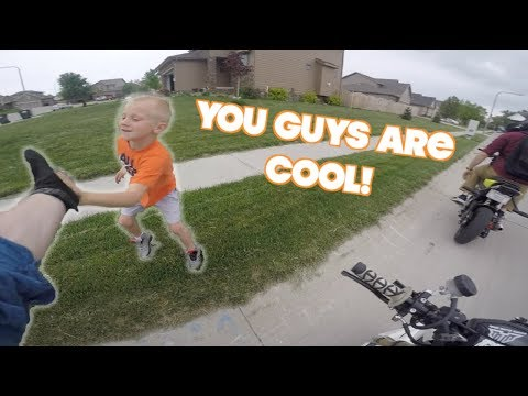 Making This Kids Day! | Running From The Storm! | Grom Jumps!