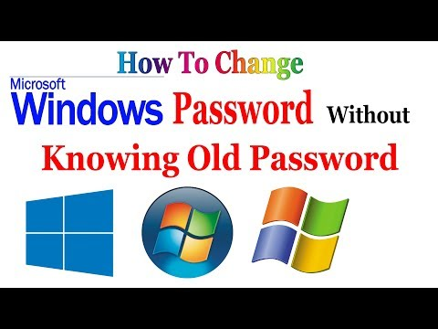 How to Change Computer Password Without Knowing Old Password