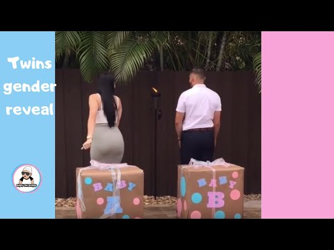 TWINS BABY GENDER REVEAL COMPILATION / CUTE ANNOUNCEMENT IDEAS 2017 [reupload]