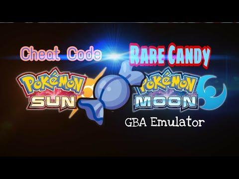 Cheat Code Rare Candy in PC Pokemon Moon GBA