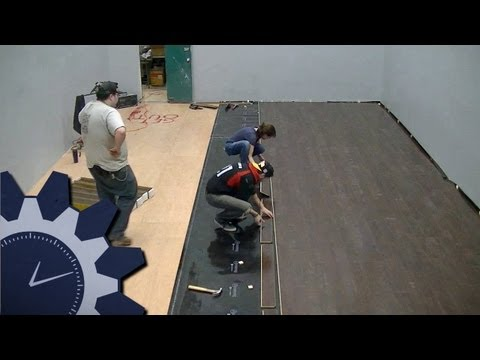 Laying Armstrong Commercial Laminate Flooring in Studio A: Abbreviated Workday #11