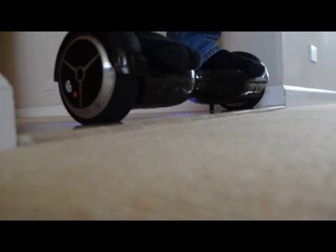 RIDING A HOVERBOARD OVER A BUMP: PART 1 (EASY BUMPS)