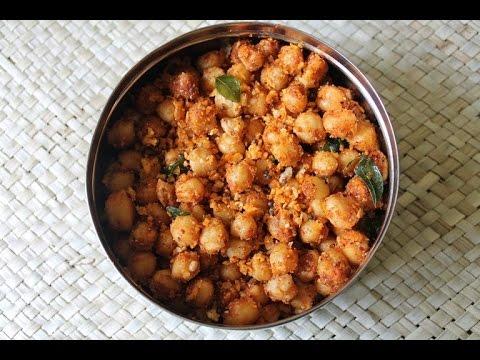Chana Masala Sundal Recipe - Kondakadalai Sundal Recipe - Navrathri Recipes