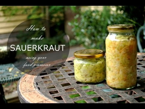 How to Make Sauerkraut (using your food processor)