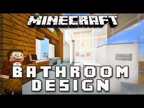 Minecraft Tutorial:  How to Make a Modern Bathroom  (Modern House Build  Ep.11)