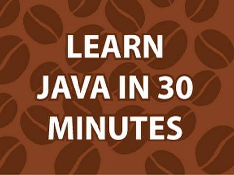 Learn Java in 30 Mins