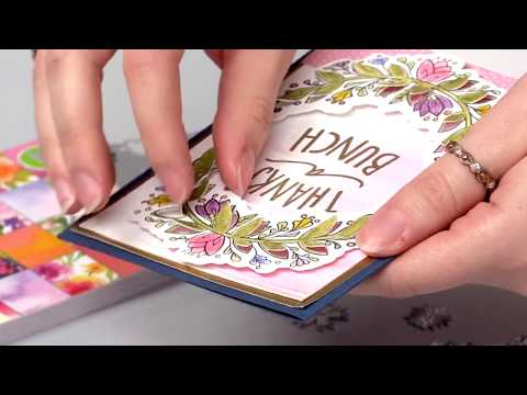 How to Create 3 Dimensional Thank You Cards with Lindsey Serata | Sizzix