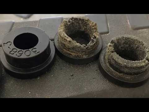 How to replace Solid motor mount bushings Dodge SRT4